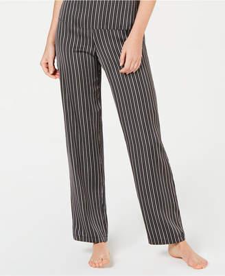 INC International Concepts I.n.c. Satin Striped Pajama Pants