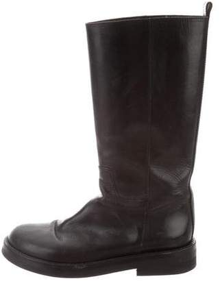 Ann Demeulemeester Leather Knee-High Boots