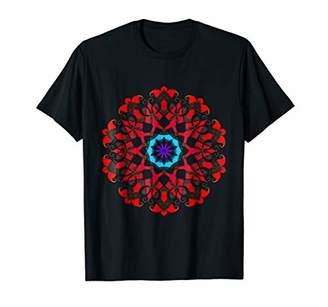 OOAK Red & Mandala Stained Glass Chakra T-shirt
