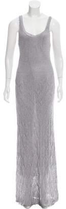 Magaschoni Metallic Maxi Dress