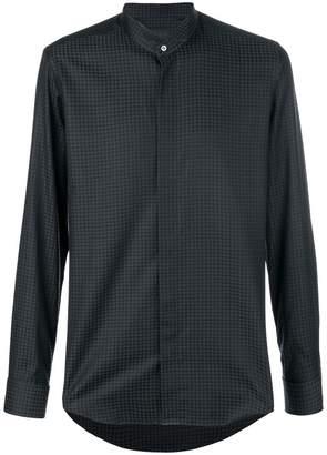 Pal Zileri houndstooth jacquard shirt