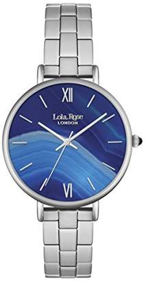 Lola Rose Women's Quartz Watch with Blue Dial Analogue Display and Silver Alloy Bracelet LR4001
