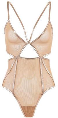 For Love & Lemons Vega Glitter Bodysuit