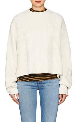 Proenza Schouler Women's Side-Slit Wool-Blend Crop Sweater