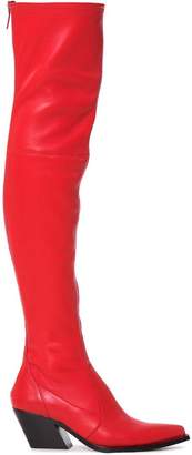 Givenchy red 60 over-the knee leather cowboy boots