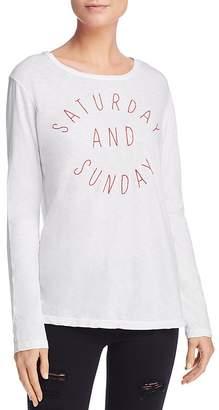 Sundry Saturday Sunday Embroidered Tee