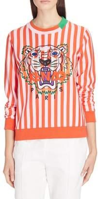 Kenzo Embroidered Tiger Stripe Sweatshirt