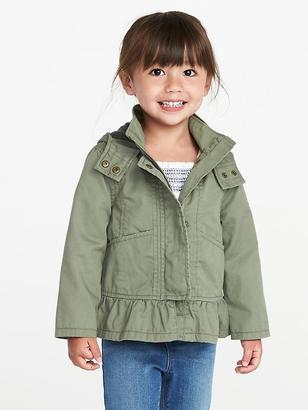 Hooded Peplum-Hem Anorak for Toddler Girls $29.99 thestylecure.com