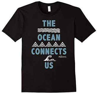 Disney Moana The Ocean Connects Us Tattoo Waves T-Shirt