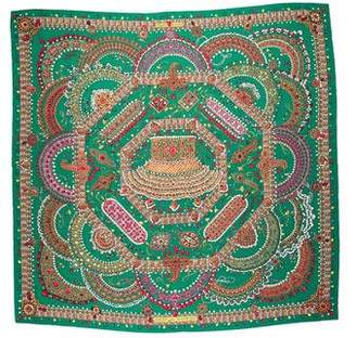 Hermes Parures Des Maharajas Cashmere and Silk Shawl