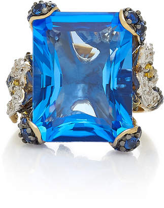 Anabela Chan Cinderella 18K Gold Sapphire And Diamond Ring