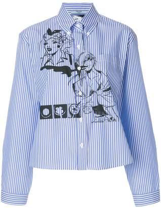 Prada comic book pinstripe shirt