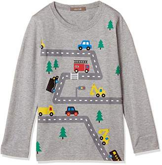 nico hrat (ニコ フラート) - [ニコフラート] 車ロングTシャツ 280264 ボーイズ 杢グレー 日本 110 (日本サイズ110 相当)
