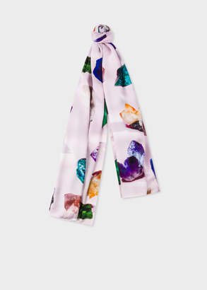 Paul Smith Women's Light Pink 'Precious Stones' Silk Scarf