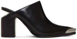 Alexander Wang Black Su Mule Heels