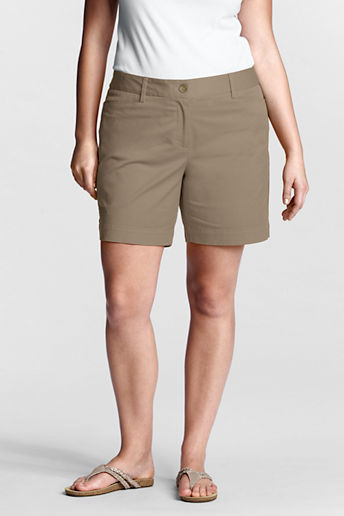 Lands' End Women's Plus Size Fit 2 7 Chino Shorts