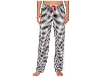 PJ Salvage Rock 'N Rose Checkered Pants Women's Pajama