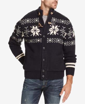 Weatherproof Vintage Men Fair Isle Sweater Jacket