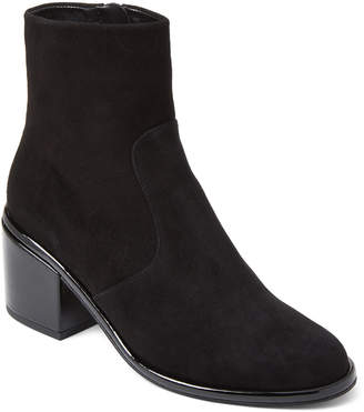 Robert Clergerie Black Moots Suede Ankle Booties