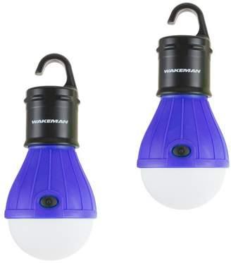 Wakeman Portable LED Tent Light Bulb, 2-Pack Hanging Lights 60 Lumen