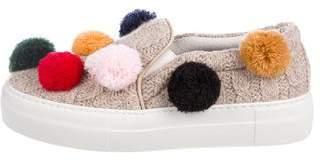 Joshua Sanders Pom Pom Knit Sneakers