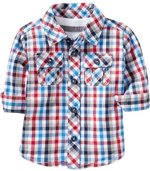 Old Navy Gingham Chest-Pocket Shirts for Baby