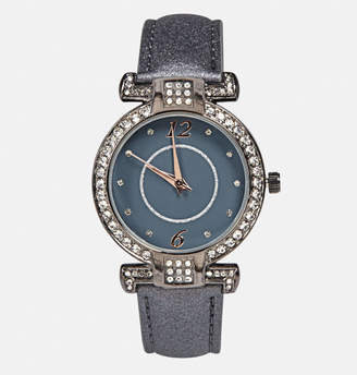 Avenue Shimmering Pewter Strap Watch