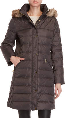 MICHAEL Michael Kors Faux Fur Trim Hooded Down Jacket