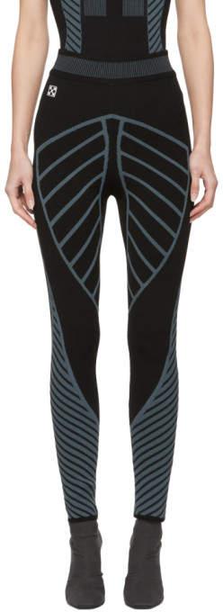 Black Knitted Active Leggings
