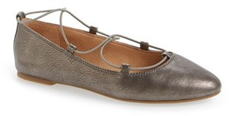 Women's Lucky Brand 'Aviee' Lace-Up Flat $68.95 thestylecure.com