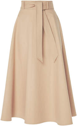 Martin Grant Belted A-Line Midi Skirt