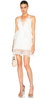 self-portrait Lace Trim Peplum Dress $540 thestylecure.com