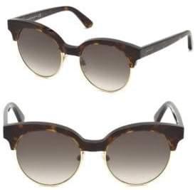 aaad1efb4 Balenciaga 51MM Tortoise Trim Round Sunglasses