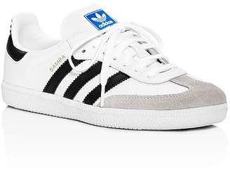adidas Unisex Samba Leather & Suede Lace Up Sneakers - Toddler, Little Kid