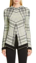 Proenza Schouler Plaid Stripe Sweater
