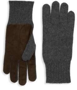 Brunello Cucinelli Cashmere Leather Gloves
