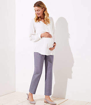 LOFT Maternity Slim Custom Stretch Pencil Pants