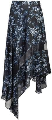 Fleur Du Mal jasmine print handkerchief skirt