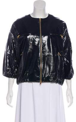 Christian Dior Patent Leather Bomber Jacket w/ Tags