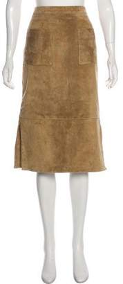 Cushnie et Ochs Suede Knee-Length Skirt
