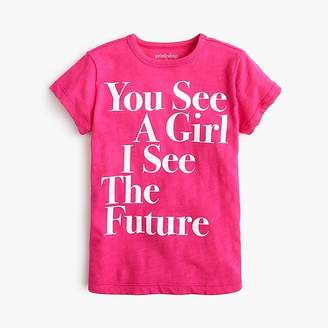 "J.Crew Girls' prinkshop for crewcuts ""You see a girl"" T-shirt"
