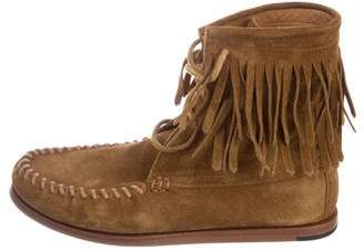 Saint Laurent Fringe Moccasin Boots