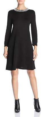 Karl Lagerfeld Paris Embellished Sweater Dress