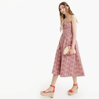 Tie-front strapless dress in Liberty® June's Meadow