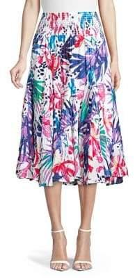 Context Multicolored-Print Cotton Skirt