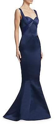 Zac Posen Women's Double Face Duchess Mermaid Gown