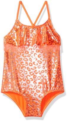 Pink Platinum Toddler Girls' Foil Cheetah Print One Piece Swimsuit