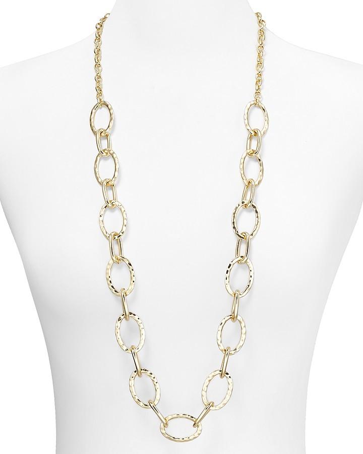 "Aqua Long Multi Link Necklace, 30"""