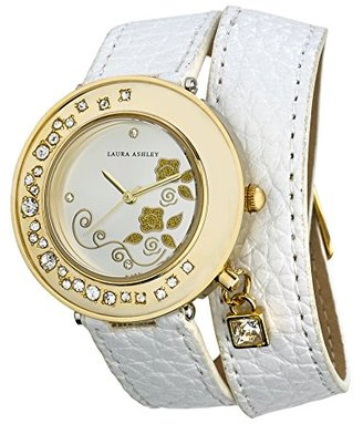Laura Ashley Women's LA31008WT Analog Display Japanese Quartz White Watch $34.99 thestylecure.com
