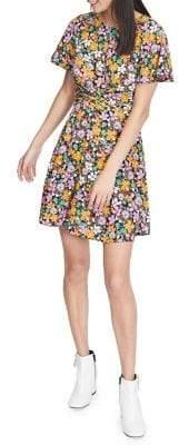 Miss Selfridge Retro Floral Twist Dress